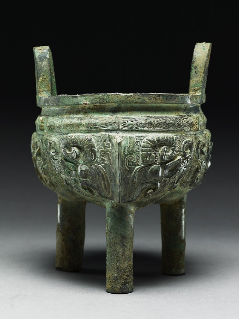 Ritual food vessel, or ding (side             )