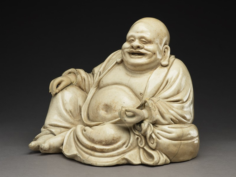 Satsuma figure of Hotei (EA1956.3995, side             )