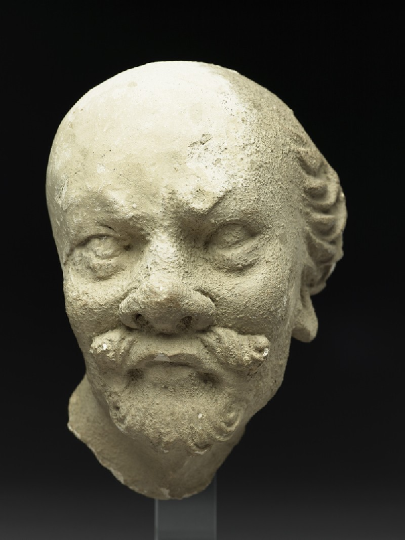 Head of an old ascetic (EA1958.2, front          )