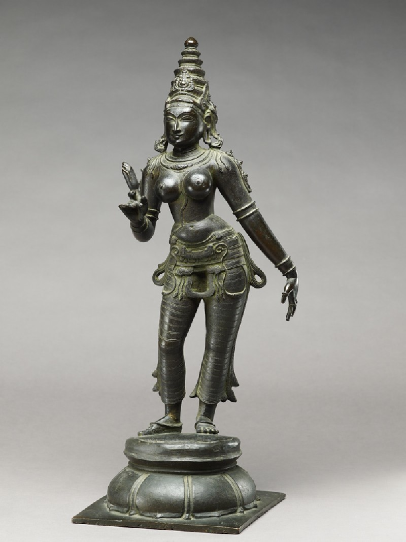 Standing figure of Gauri (EA1958.205.a, side              )