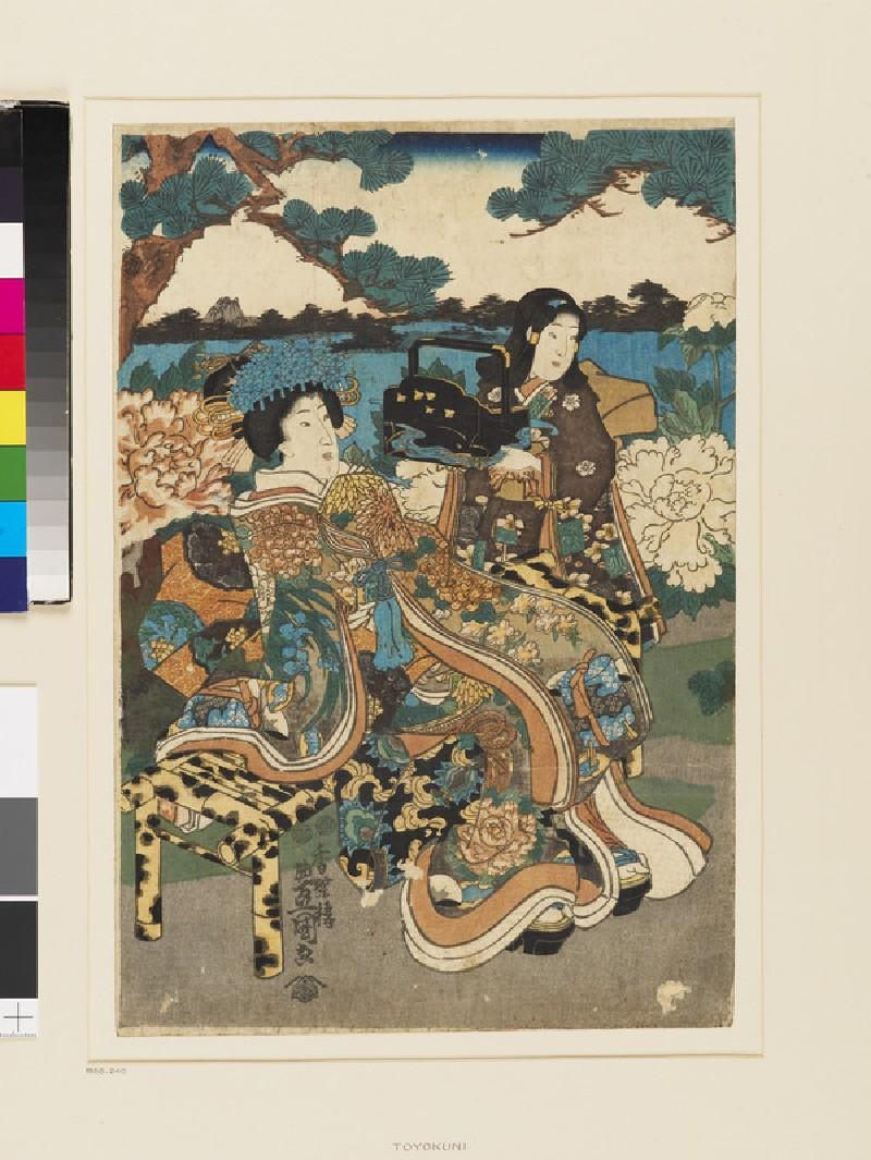 Garden, Butterflies, Peony Flowers (EA1958.240, front            )