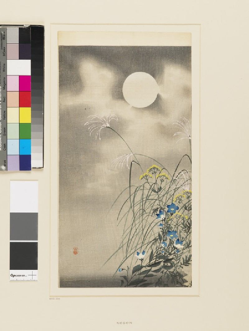 Autumn grasses in the moonlight (EA1958.266, front            )