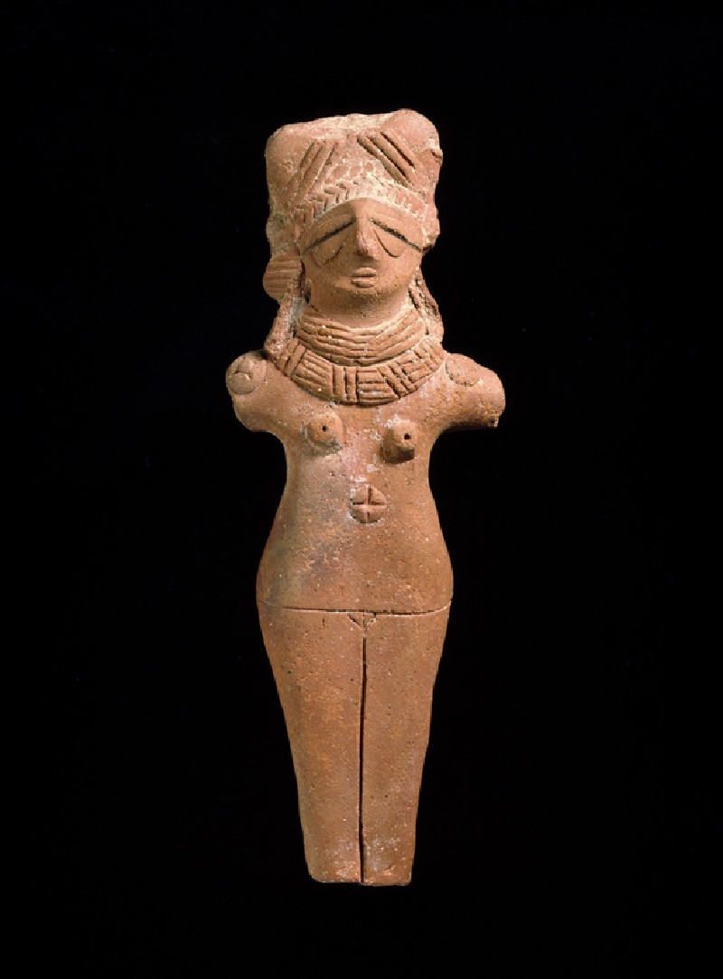 Terracotta female figure (front          )