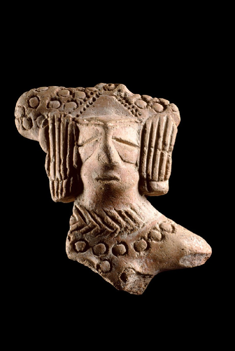 Fragmentary bust of a female figure