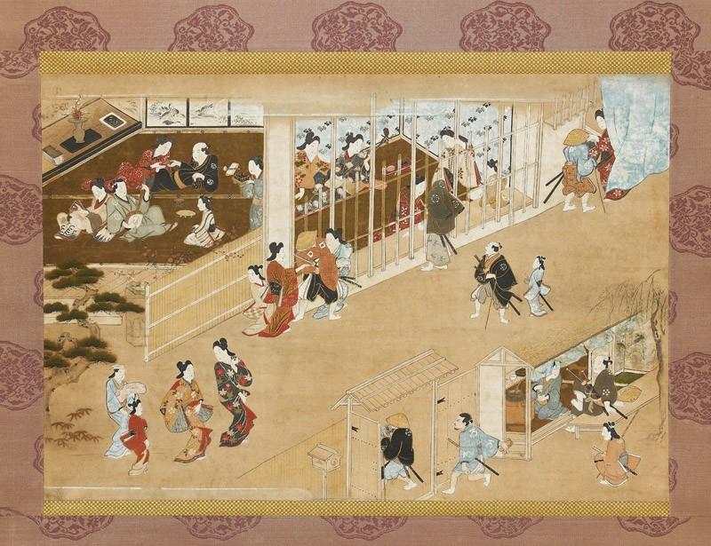 Yoshiwara pleasure quarters (EA1959.87, front           )
