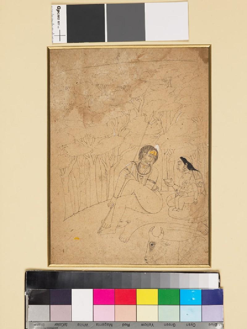 Shiva, Parvati, and Ganesha (EA1960.170, front            )