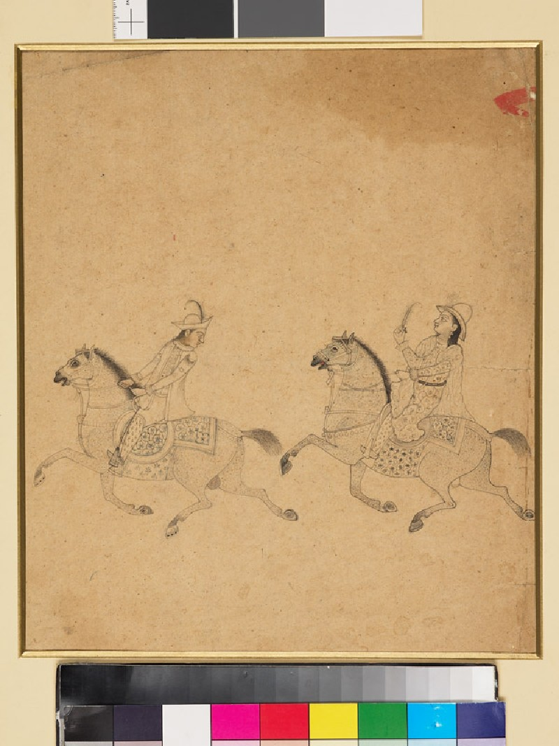 Man and woman on horseback (EA1960.182, front            )