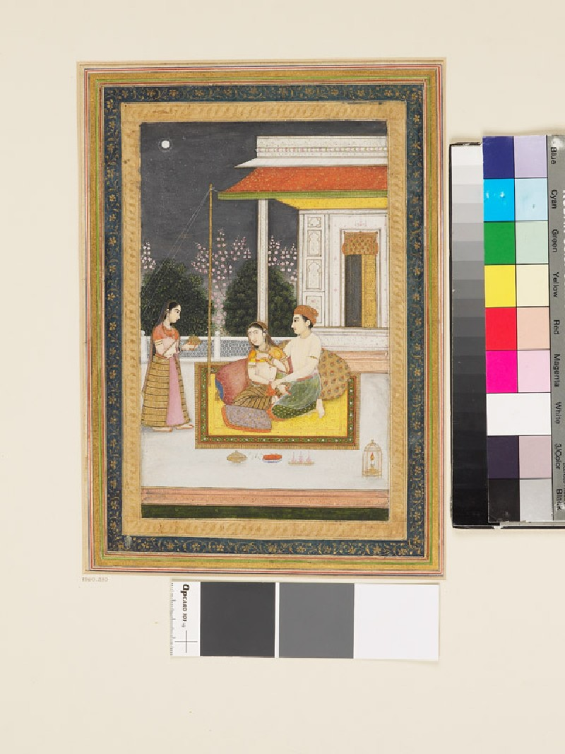 Love scene on a terrace at night (EA1960.210, front            )