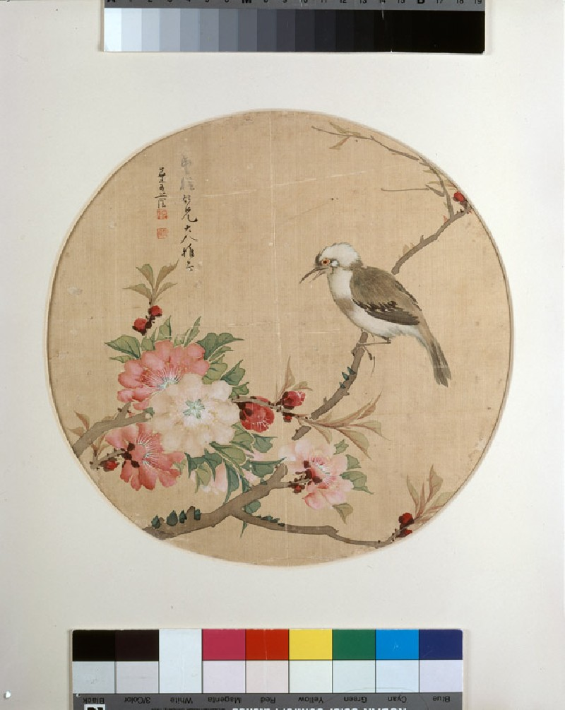 Bird on a flowering branch (EA1960.222, front            )