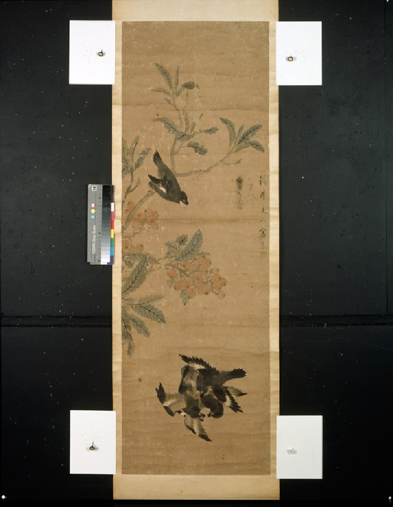 Birds and branch (front, painting only            )