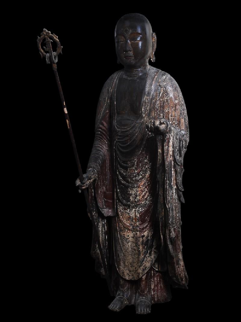 Figure of the bodhisattva Jizō (side            )