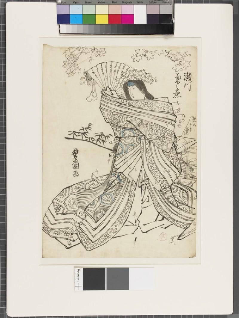 Shita-e (under-drawing for a woodblock print) (EA1961.127.18, front               )