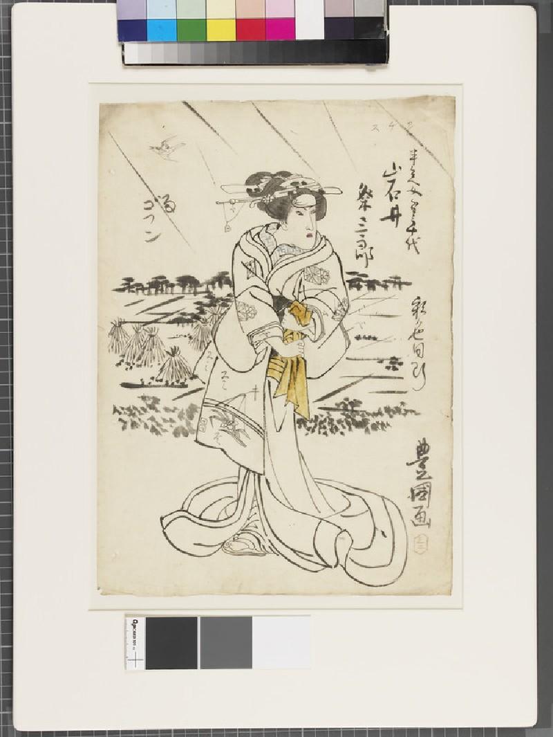 Shita-e (under-drawing for a woodblock print) (EA1961.127.28, front               )