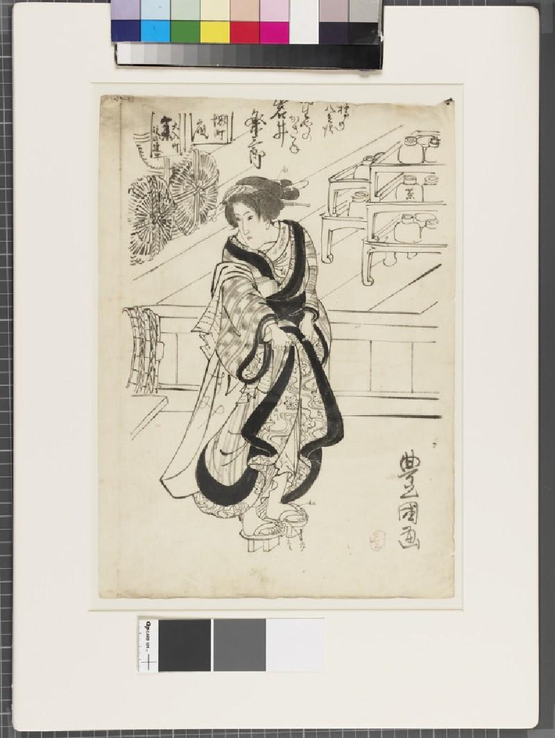 Shita-e (under-drawing for a woodblock print) (EA1961.127.29, front               )