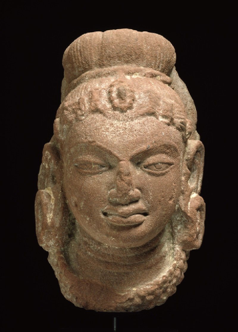 Female head with headdress (front            )
