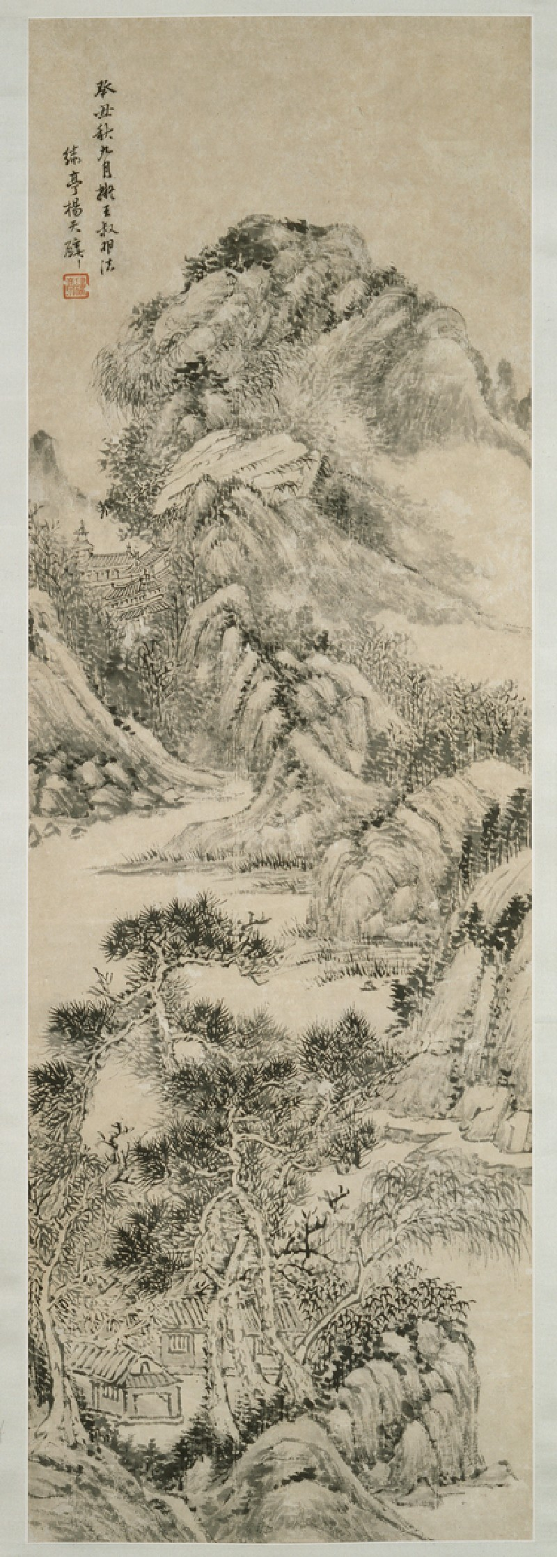 Landscape in the style of Wang Meng (EA1962.123, front, painting only            )