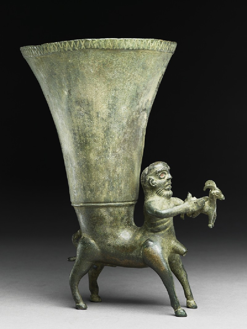 Rhyton in the form of a centaur (side           )