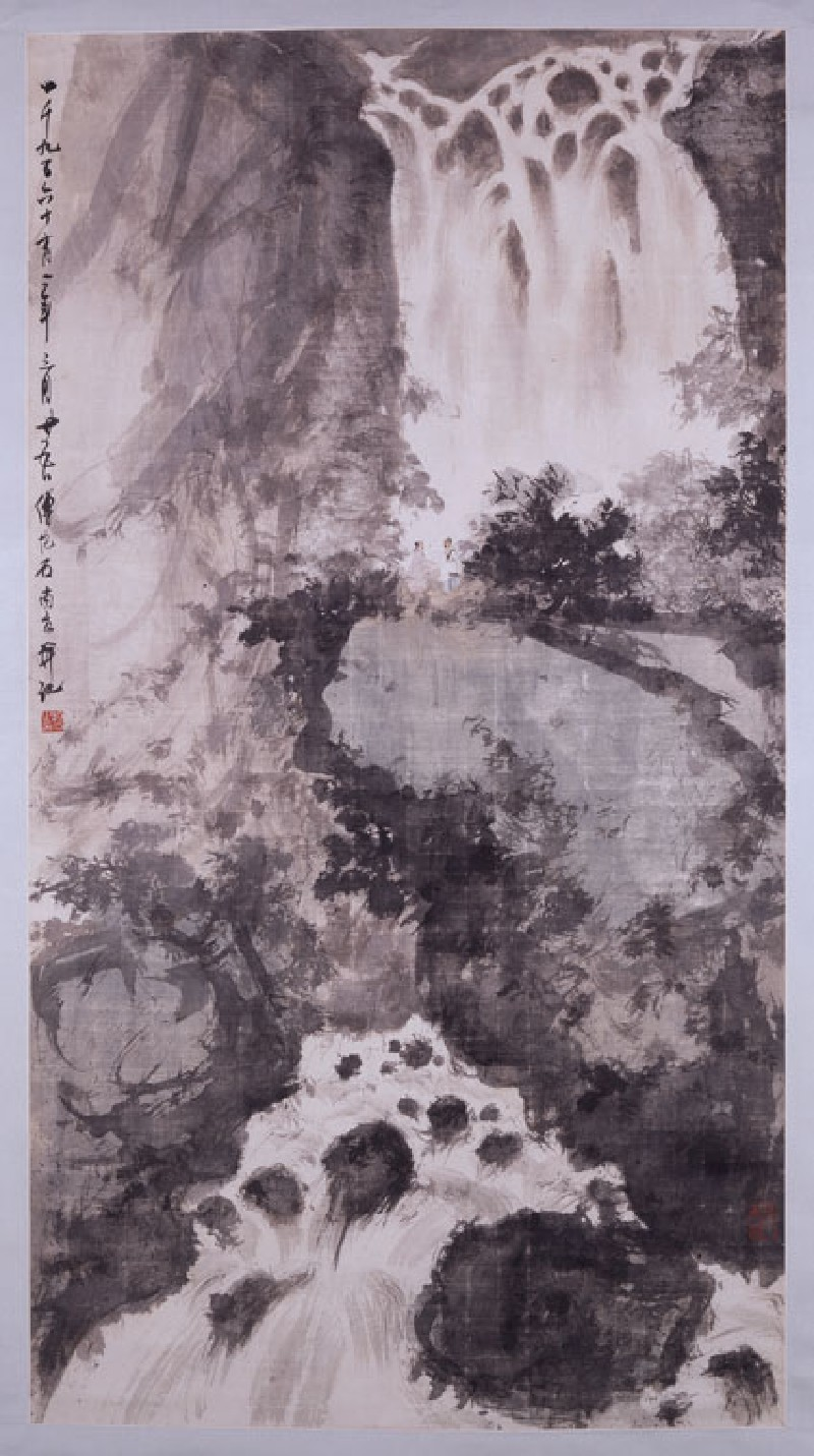 Waterfall landscape (front, painting only           )