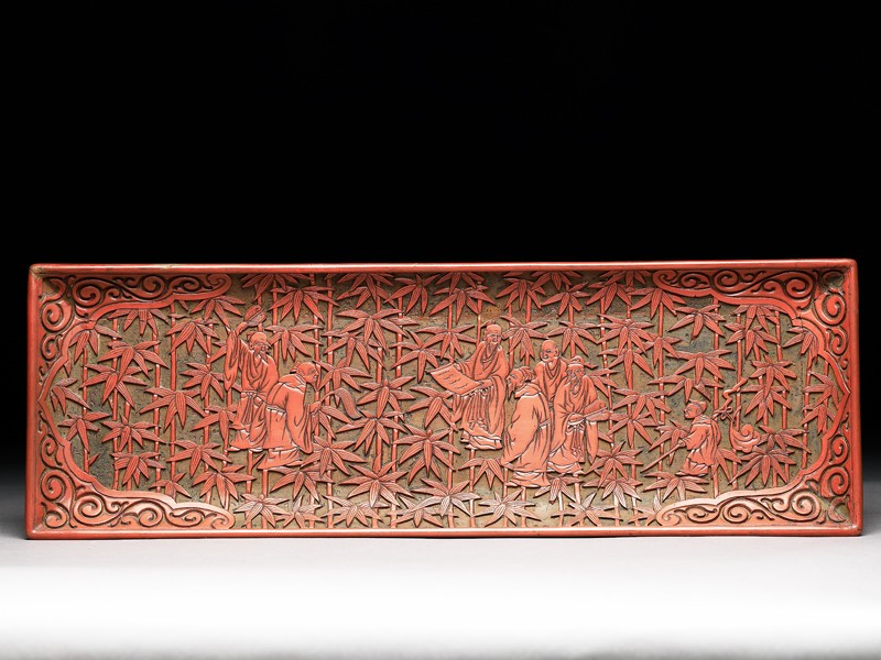 Pen tray depicting the Seven Sages of the Bamboo Grove (EA1964.171, front            )