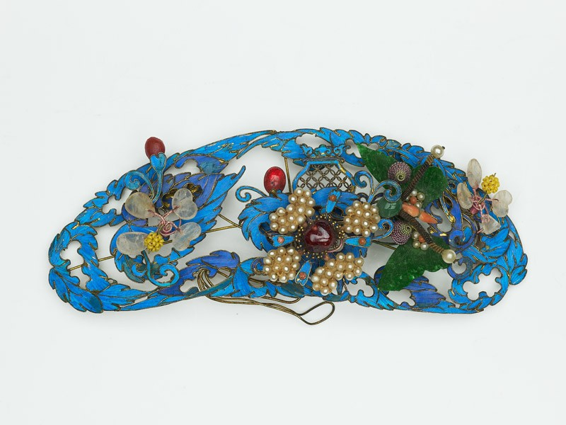 Hair ornament with flowers and butterfly (EA1964.197, front            )