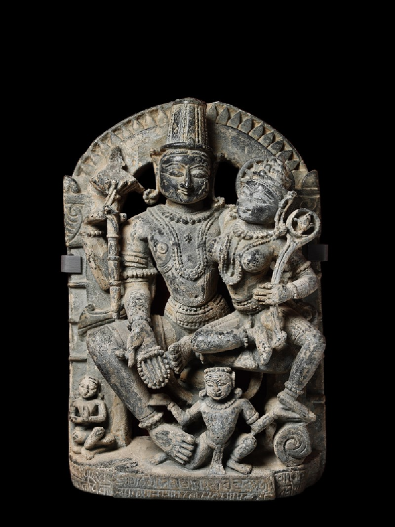 Figure of Vishnu and Lakshmi, or Lakshmi-Narayana (EA1965.161, front            )