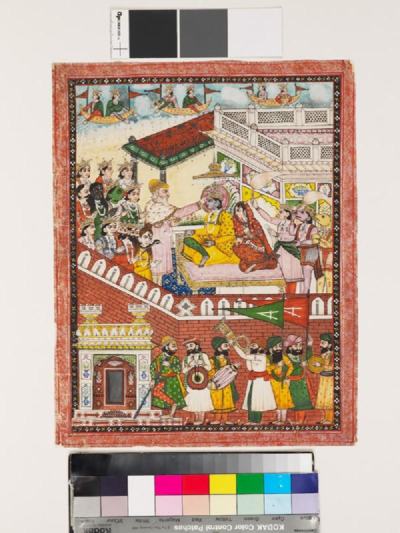 The coronation of Rama (front            )