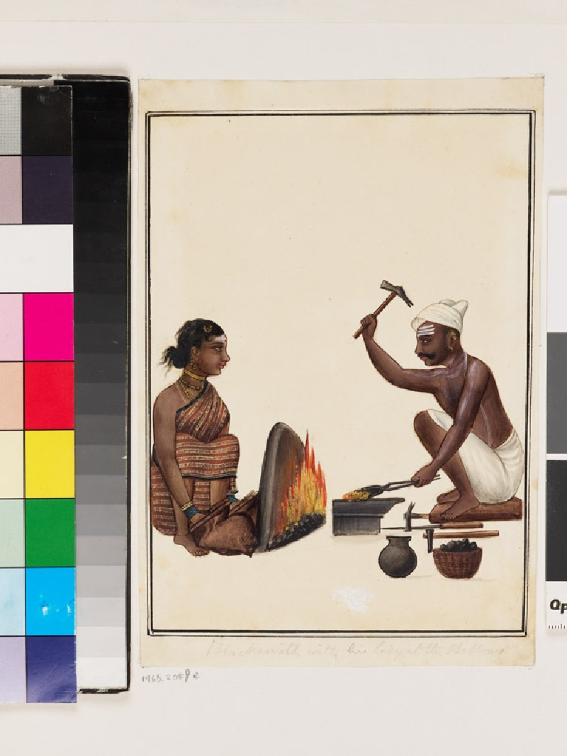 Blacksmith and wife (EA1965.208.e, front              )