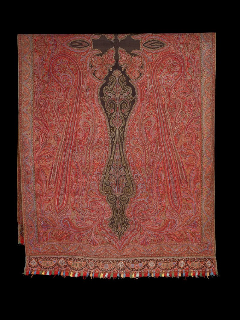 Kashmir shawl with stylized buta (folded            )