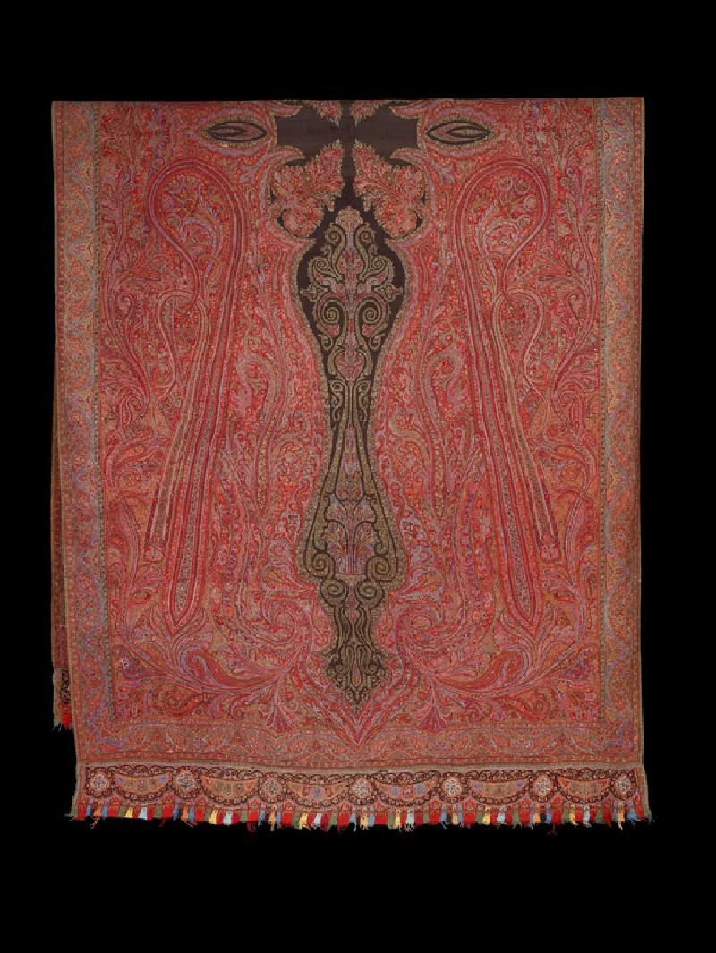 Kashmir shawl with stylized buta
