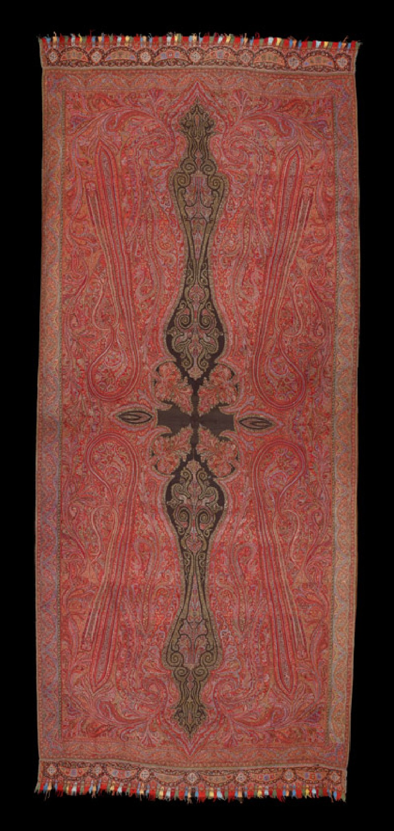 Kashmir shawl with stylized buta (EA1965.227, front            )