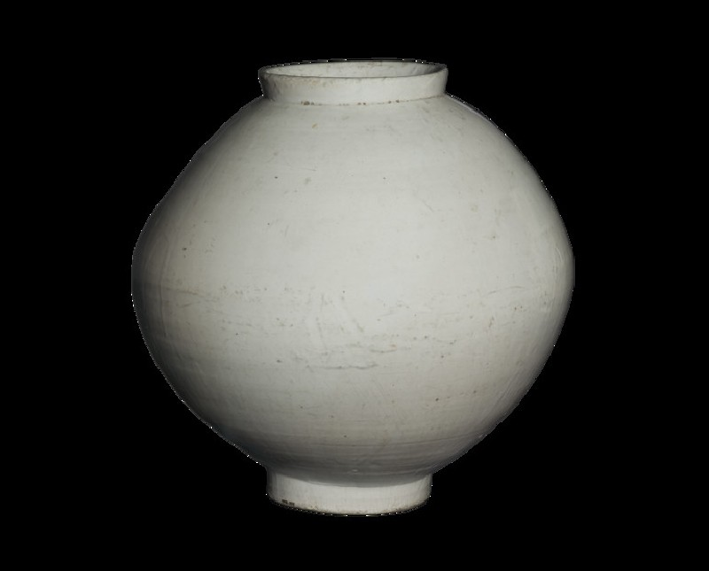 Moon jar with white glaze (EA1965.255)