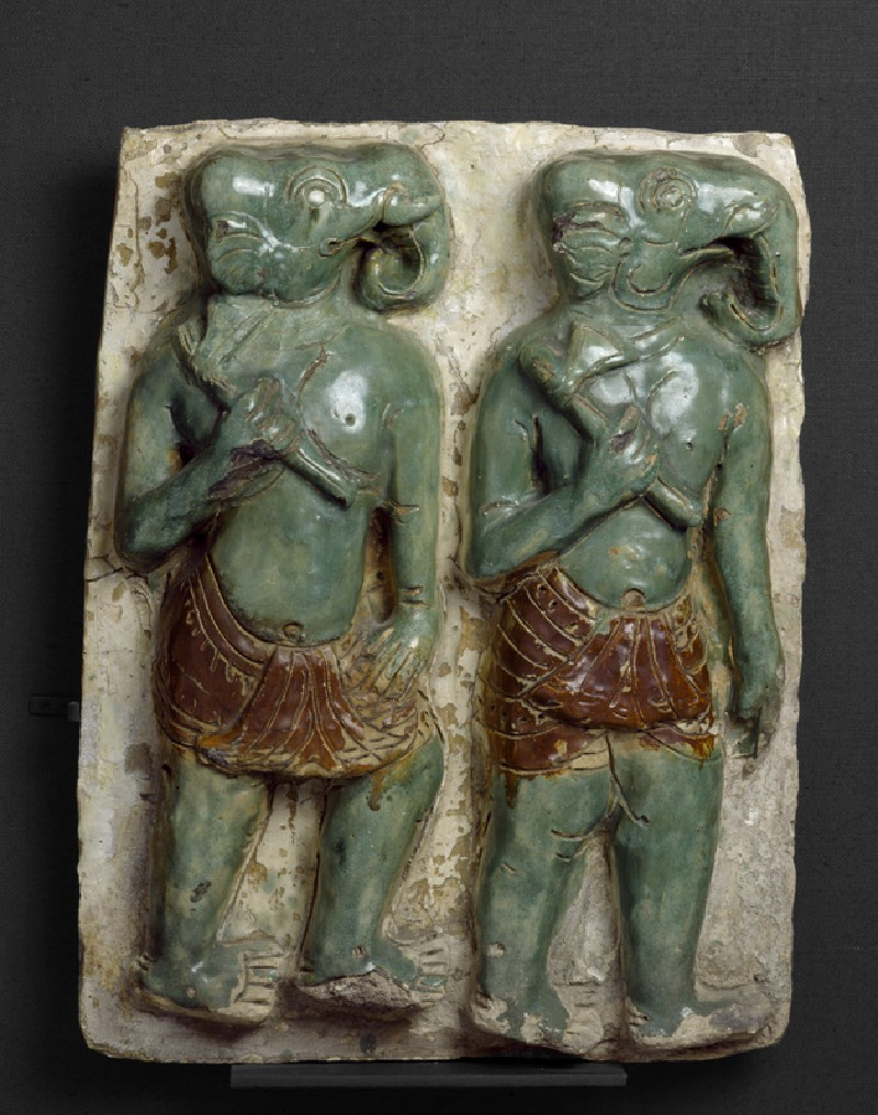Plaque with elephant-headed warriors (EA1965.256, front            )