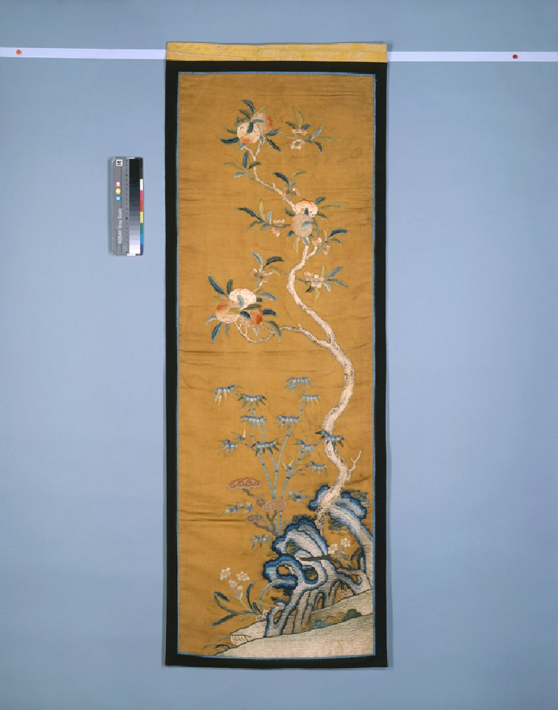 Furnishing panel with peach tree, possibly from a screen