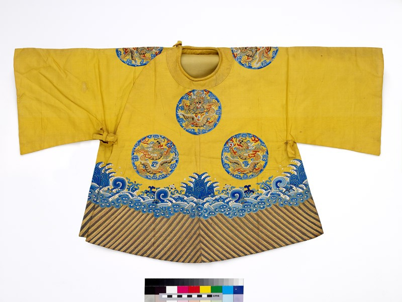 Child's coat with dragon roundels and waves (front           )