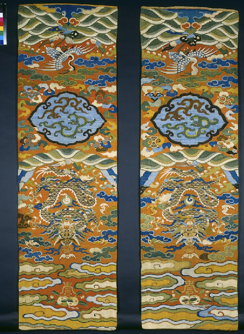 Kesi (k'o-ssu) tapestry chair panels