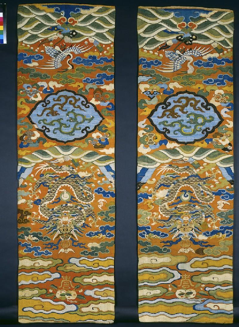 Kesi (k'o-ssu) tapestry chair panels (EA1965.93)