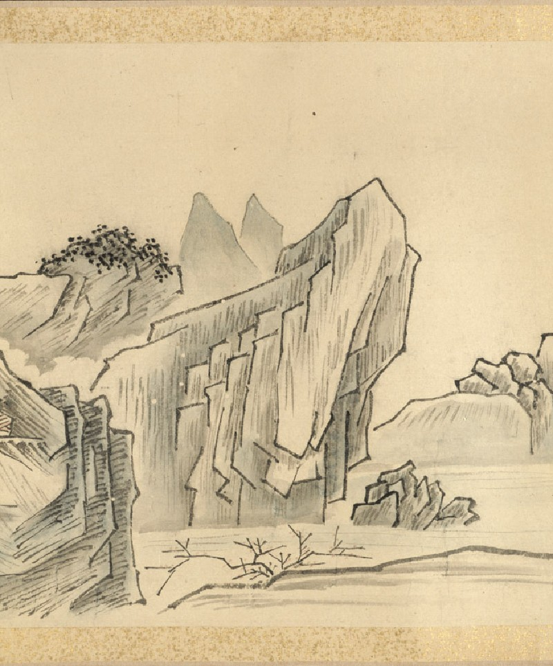 Nine bends of the Jiuquxi River in the Wuyi mountains (EA1966.124, detail            )