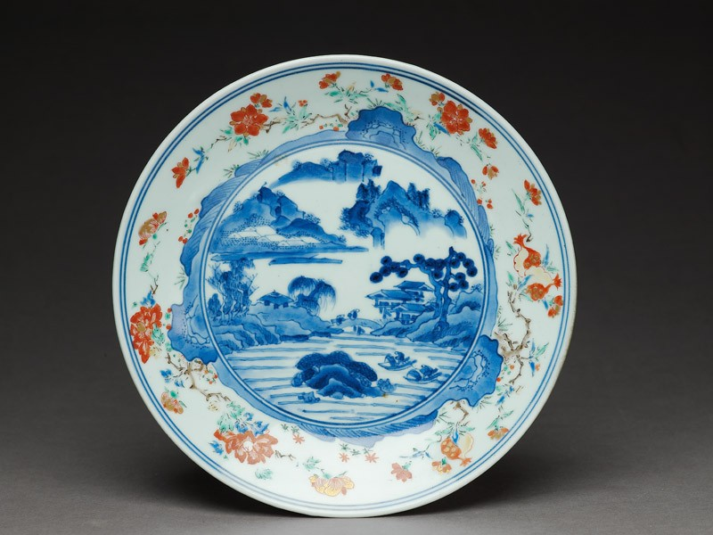 Dish with river scene (EA1966.163, top            )