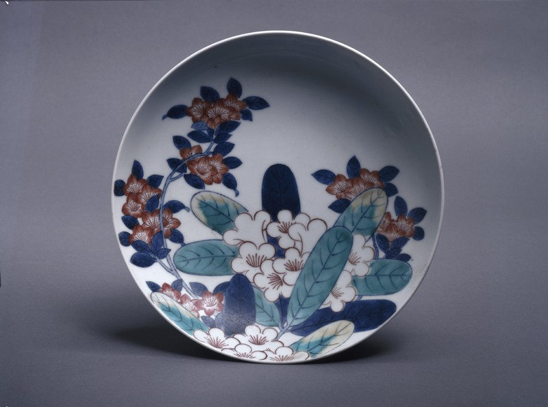 Dish with rhododendrons and azaleas (top            )
