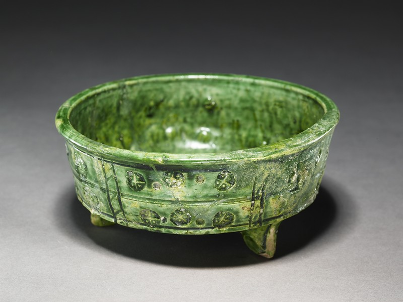 Three-footed bowl (EA1966.222, oblique            )