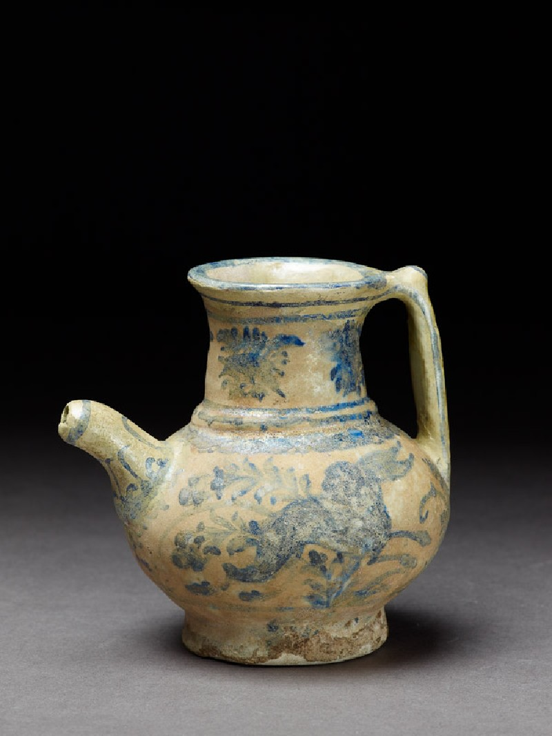 Jug with hare