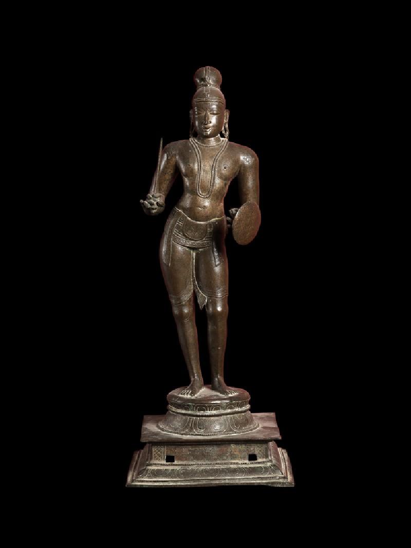 Figure of the saint Tirumankai Alvar (front           )