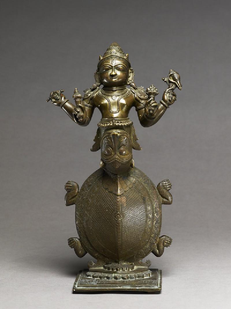 Figure of Kurma, the Tortoise incarnation of Vishnu (front           )