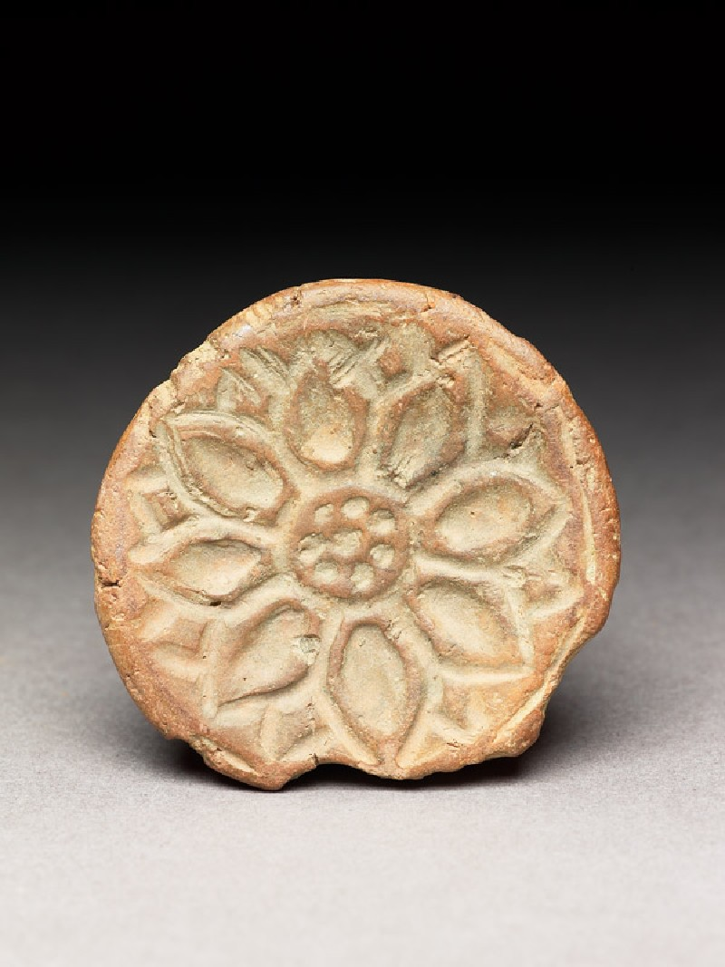Seal with lotus impression (EA1967.65, bottom           )