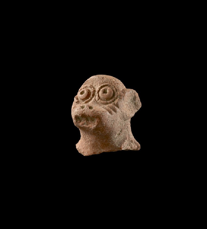 Head of the figure of a monkey