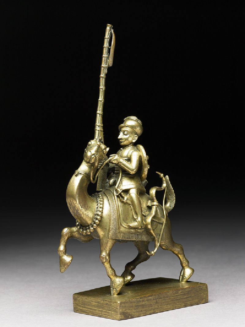 Toy soldier with camel and matchlock