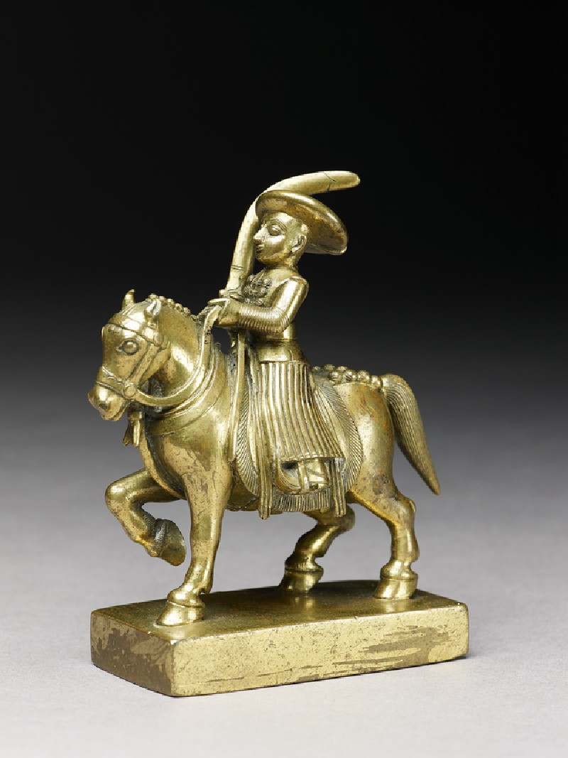 Toy soldier with horse and sabre (side             )