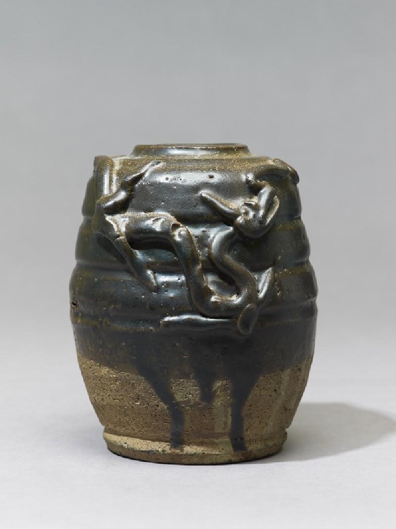Dark brown glazed dragon jar (EA1969.59, side           )