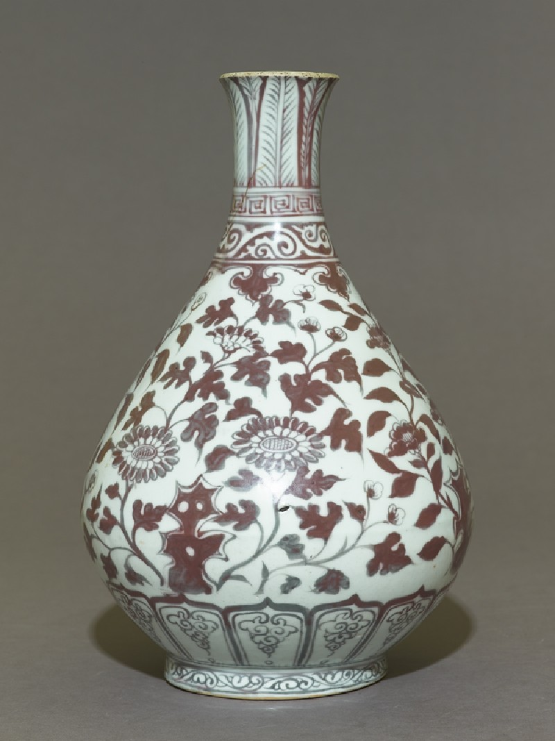 Vase with floral decoration (side           )