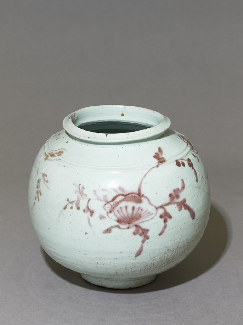 Jar with floral sprays (oblique            )